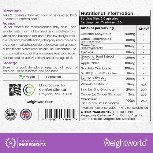 WeightWorld Belly XS 60 Capsules for wholesale