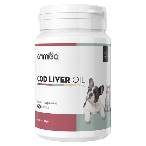 Animigo Cod liver oil Cat & Dog 550mg 60 Softgels