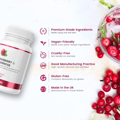 Cranberry & D-Mannose Capsules for Wholesale