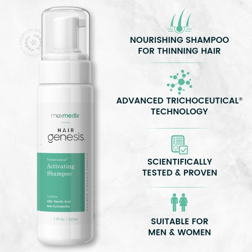 maxmedix HairGenesis Trichoceutical Activating Shampoo