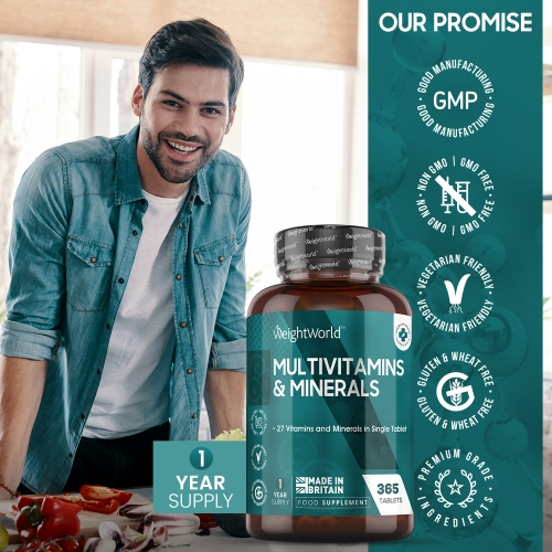 Multivitamins and Minerals 365 Tablets