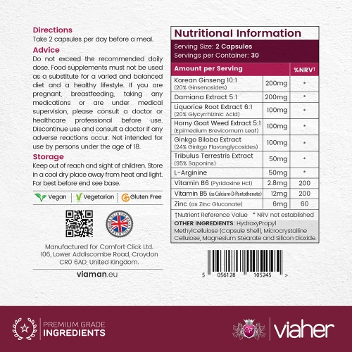 Viaher Supplement for Women 60 Capsules for wholesale