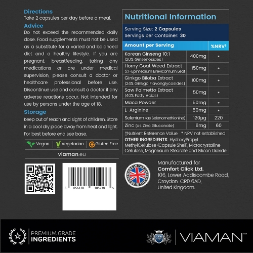 Viaman Volume 60 Capsules for wholesale